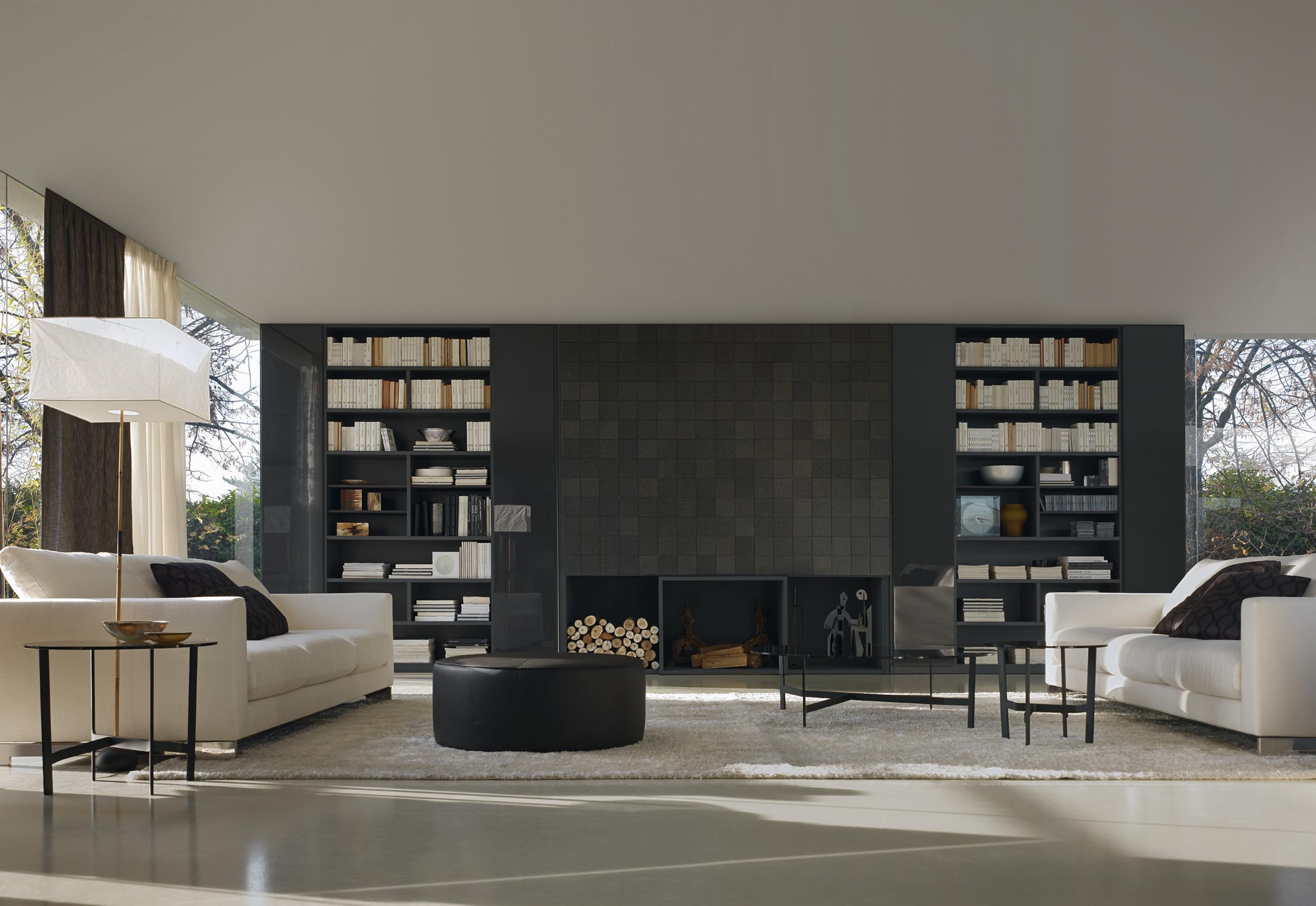 505 di molteni c pareti e librerie arredamento. Black Bedroom Furniture Sets. Home Design Ideas