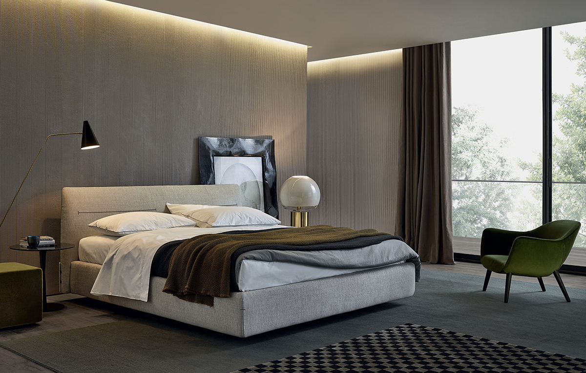 Jacqueline di poliform letti co arredamento for Beautiful bedrooms 2016