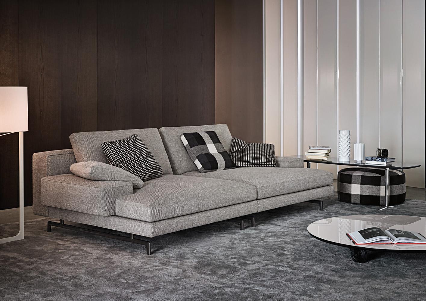 Sherman di minotti divani e poltrone arredamento mollura home design - Divano profondo ...