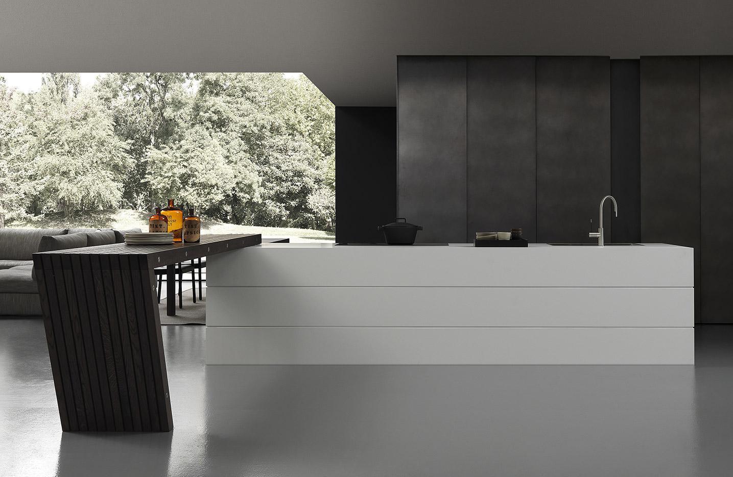 blade cucina di modulnova cucine arredamento mollura home design. Black Bedroom Furniture Sets. Home Design Ideas
