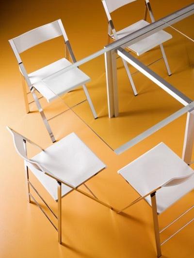 Pocket sedia pieghevole cromo bontempi sedie - Sedia pieghevole trasparente ...