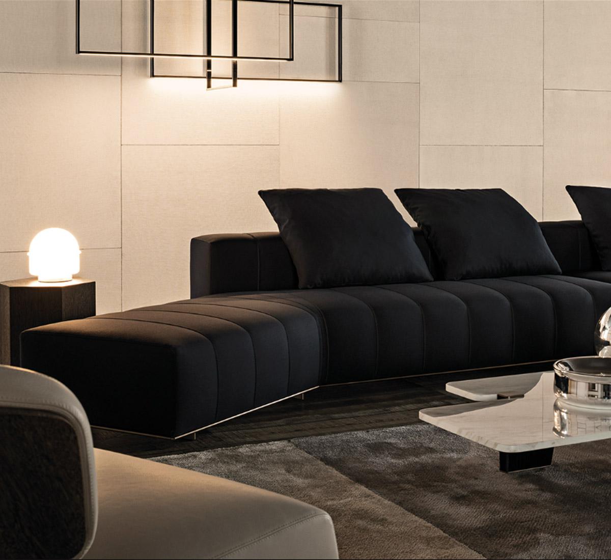 Freeman lounge divano modulare di minotti divani e poltrone arredamento mollura home design - Divano modulare economico ...