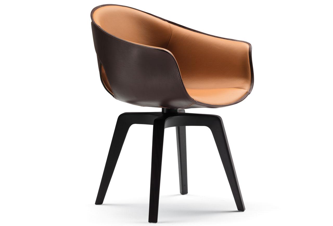 ginger di poltrona frau sedie poltroncine arredamento mollura home design. Black Bedroom Furniture Sets. Home Design Ideas