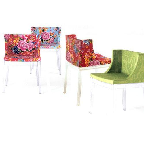 Mademoiselle tessuti fantasia kartell sedie for Sedie design kartell