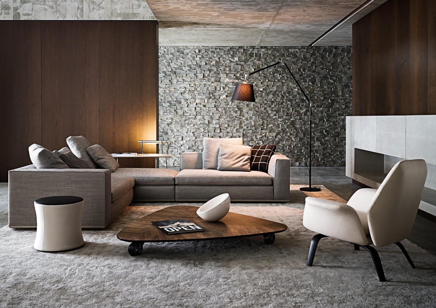 Powell di minotti divani e poltrone arredamento for Abbinamenti colori salotti