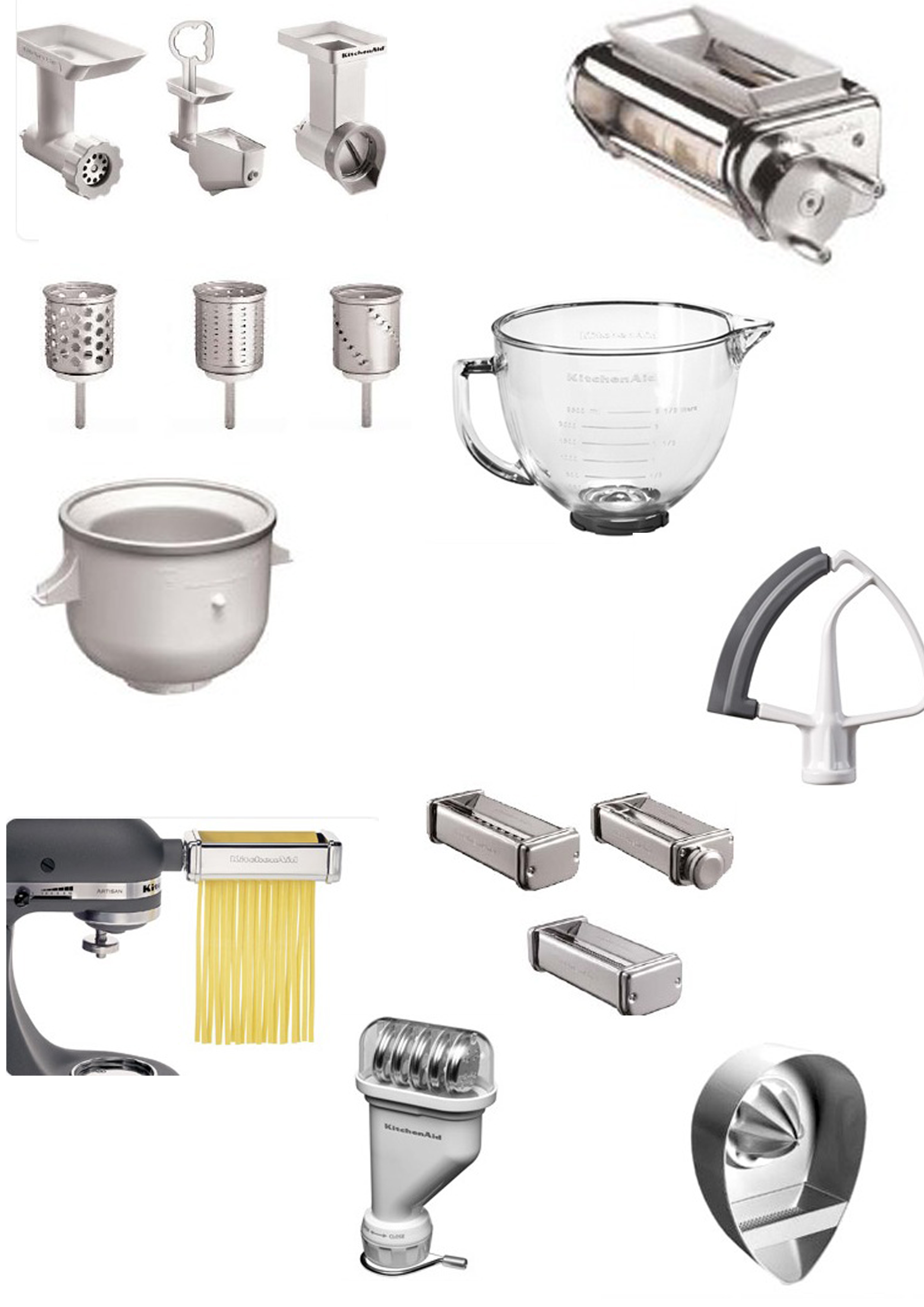 Set di accessori per robot da cucina artisan kitchenaid piccoli elettrodomestici in lista - Lista utensili da cucina ...