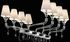 Domo Nevada 8 luci - cristallo trasparente Barovier & Toso