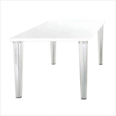 Top top tavolo 130x130 vetro kartell tavoli scrivanie - Tavolo top top kartell ...