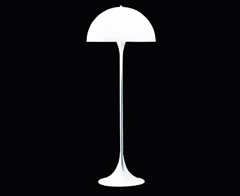 panthella di louis poulsen lampade da terra illuminazione mollura home design. Black Bedroom Furniture Sets. Home Design Ideas