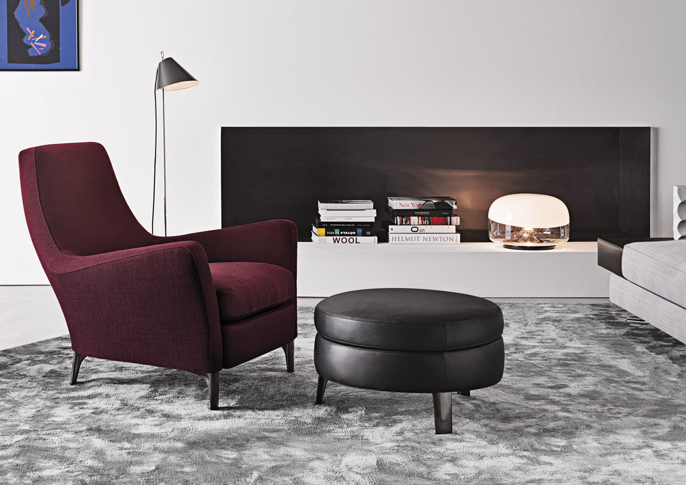 denny poltrona di minotti poltrone chaise longue arredamento mollura home design. Black Bedroom Furniture Sets. Home Design Ideas