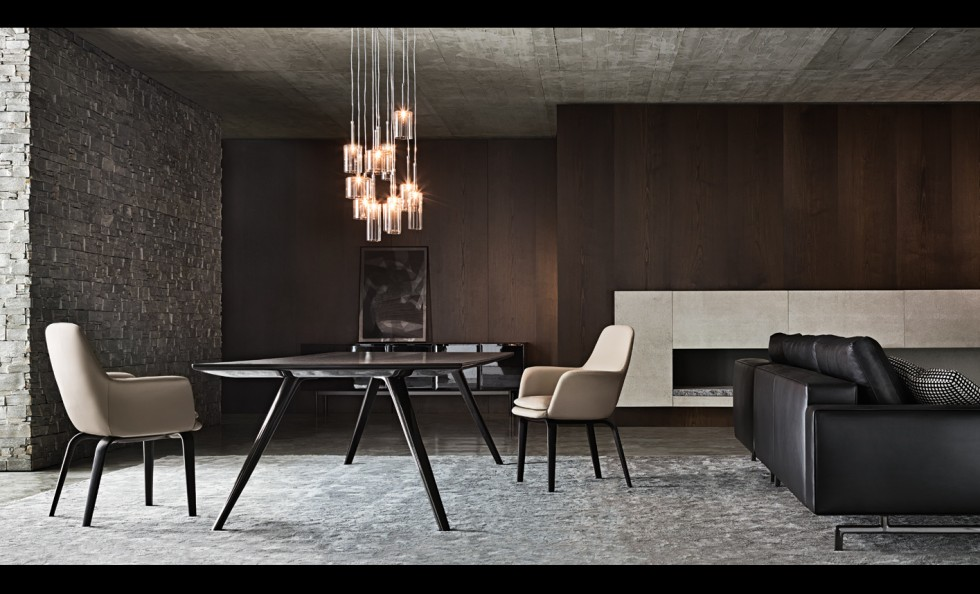 evans di minotti tavoli arredamento mollura home design. Black Bedroom Furniture Sets. Home Design Ideas