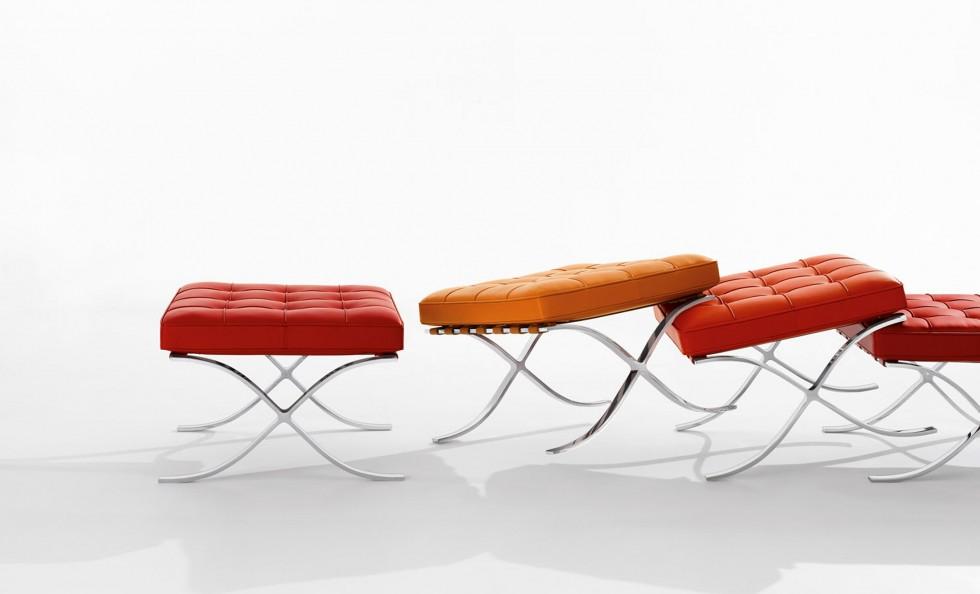 Barcelona stool di knoll divani e poltrone arredamento for Poltrona barcelona knoll