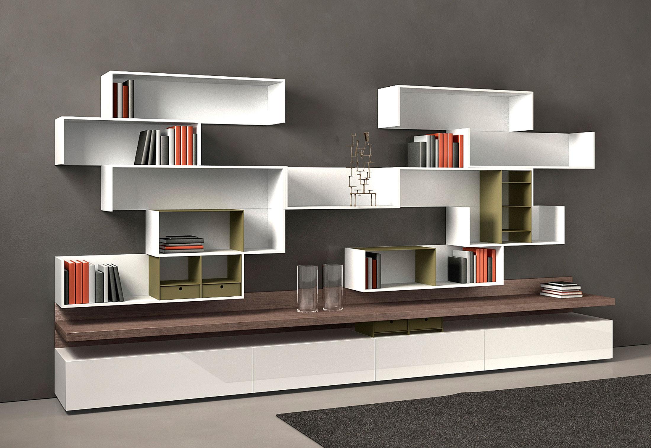 Fortepiano di Molteni & C  Pareti e Librerie - Arredamento  Mollura Hom...
