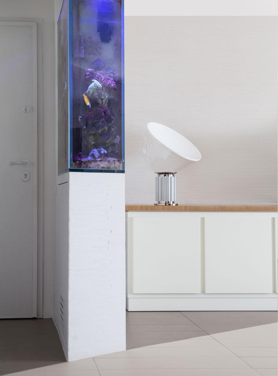 L'acquario presente all'interno del salone