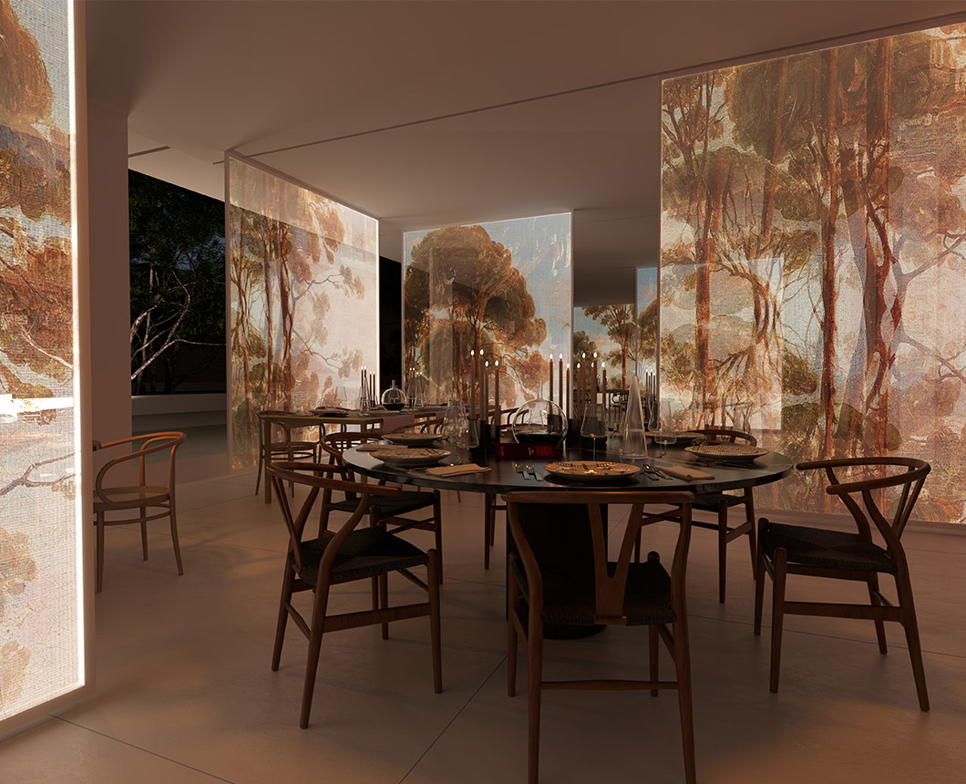 Restaurant by night - Elle Decor Grand Hotel