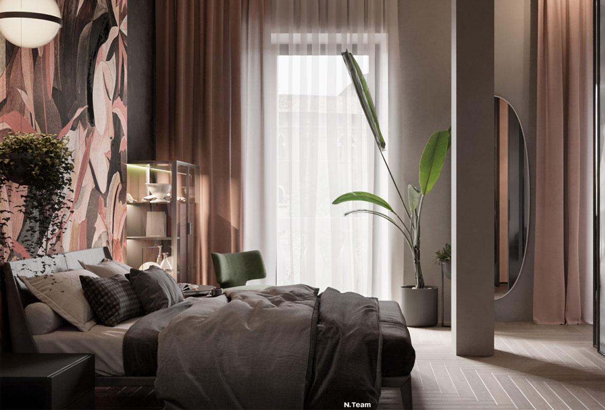 Camera da letto luminosa mohd